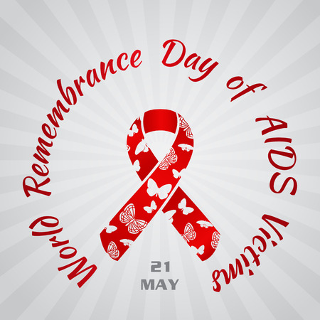 Background for World Remembrance Day of AIDS Victims