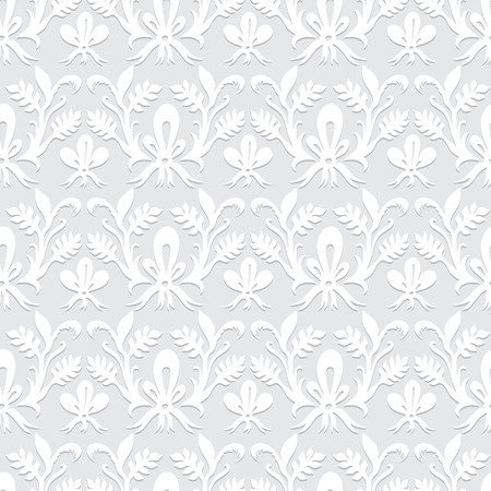 calico: Seamless floral pattern. Embossed paper imitation