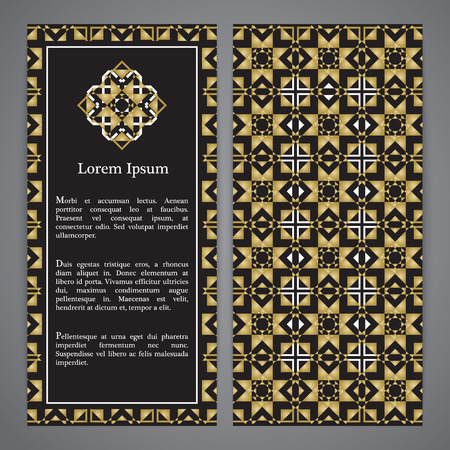 Vector islamic ethnic invitation design or background  Gold and