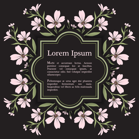 cerastium tomentosum: Background with chickweed (tomentosum) graphic flowers. For wedding invitation, book cover or flyer