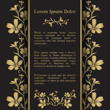 cerastium tomentosum: Background with gold chickweed (tomentosum) graphic flowers. For wedding invitation, book cover or flyer