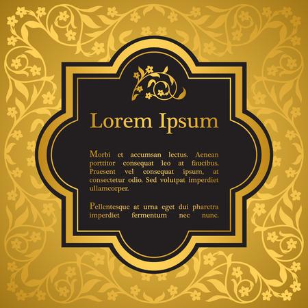 Hintergrund mit Blumenverzierung. Inspiriert von Ottomanen und islamischen Ornamenten. Für Hochzeitseinladung, Buchcover