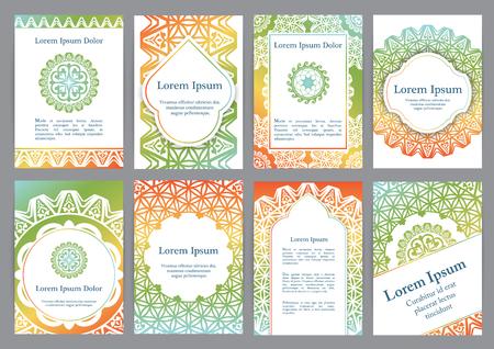 マンダラとベクトル テンプレート。古代ギリシャ語、イスラム教、トルコの装飾品に基づいています。招待状、バナー、はがきやチラシの