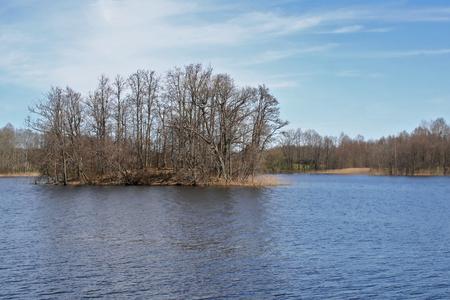 Early spring at the european lake, Latvia, Europe.