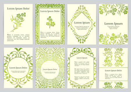 Vector templates for A4 with florals. Based on ancient greek, islamic and turkish ornaments.