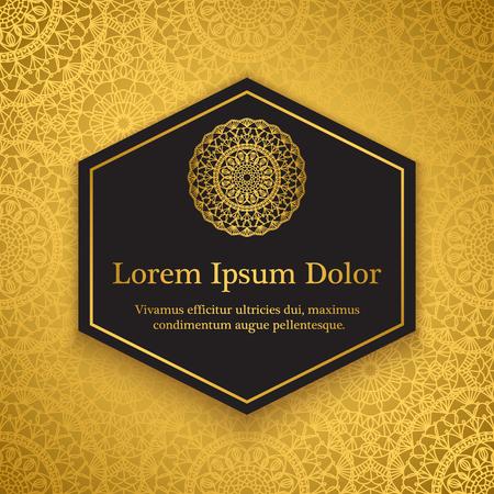 Achtergrond sjabloon met gehaakte kant ornamenten voor flyer, boekomslag of uitnodiging