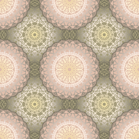 Seamless pattern with crochet lace ornament