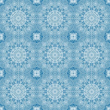 Naadloos boho syle patroon met gehaakt kant rond thema.
