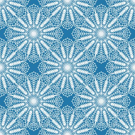 Naadloos boho syle patroon met gehaakte kant ronde motieven Stock Illustratie