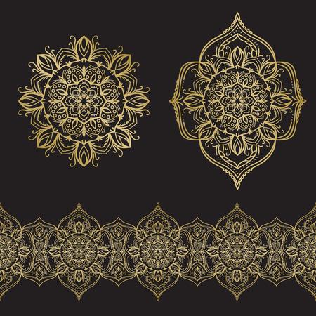 Motif floral dessiné à la main. Banque d'images - 88289420