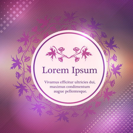 Background with larkspur floral ornament and place for text