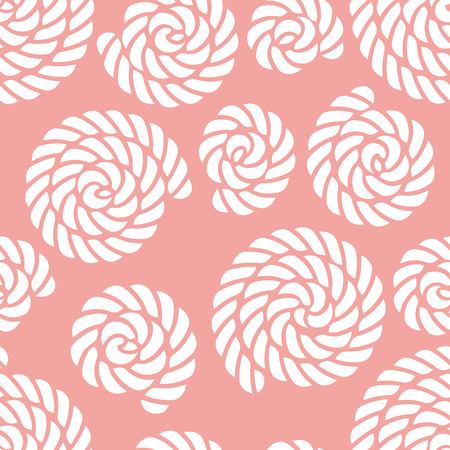 Seamless nautical rope knot pattern Ilustrace