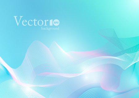 Abstract wave background in light blue color, energy in motion