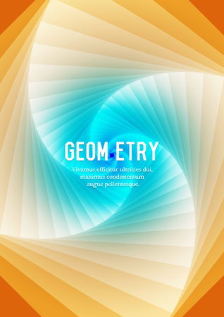 Abstract geometric background with place for text in blue and yellow color Illustration
