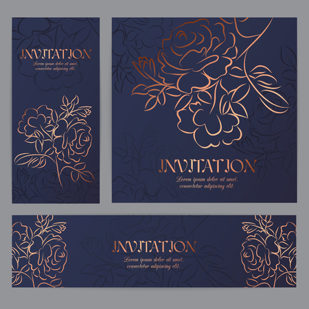 Hand drawn rose, vector sketch, ink drawing imitation. Templates for banners