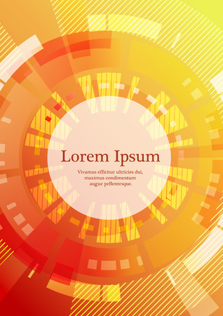 Abstract geometric background with place for text in red and yellow