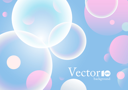 Abstract geometric background with place for text in blue and pink color