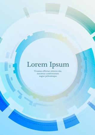 Fondo geometrico astratto con posto per testo in colore blu Vettoriali