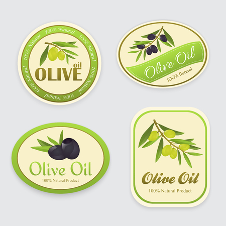 Olive oil labels, set of three tags