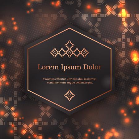 Wedding invitation, thank you card, modern tribal ornament background template. Vector elegant template