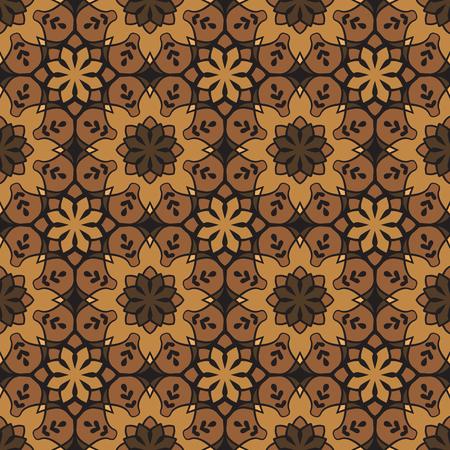 Motif géométrique sans couture de couleur cuivre. Basé sur des motifs grecs anciens, arabes et turcs. Pour le textile, les invitations, les bannières et autres
