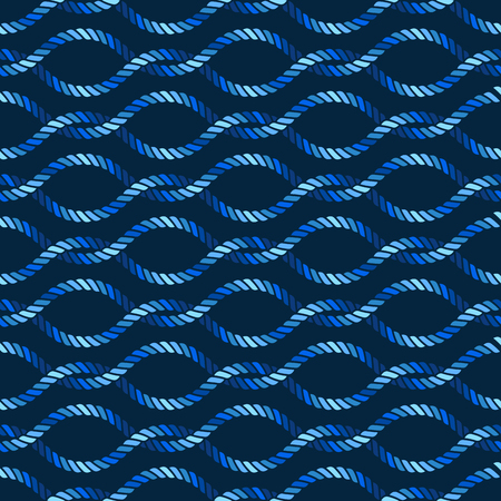 Nahtloses nautisches Seilknotenmuster, Fischernetz