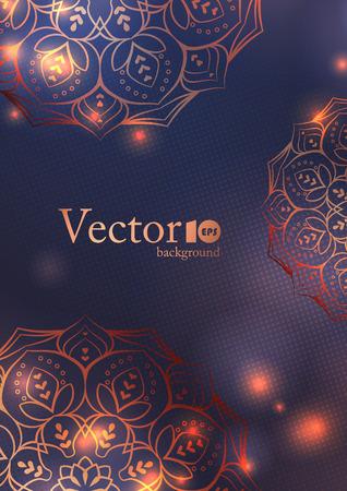 Wedding invitation,  thank you card, modern tribal ornament background template. Vector elegant template 일러스트