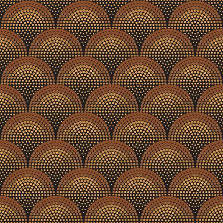 Motif géométrique sans couture de couleur cuivre. Basé sur des motifs grecs anciens, arabes et turcs. Pour le textile, les invitations, les bannières et autres Vecteurs