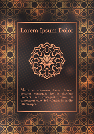 Wedding invitation, thank you card, modern tribal ornament background template. Vector elegant template