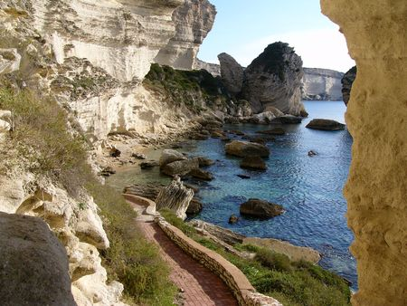 limestone: Limestone cliffs Stock Photo