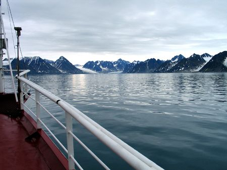 svalbard: Views around Spitsbergen, Svalbard, Arctic Circle, sailing Stock Photo