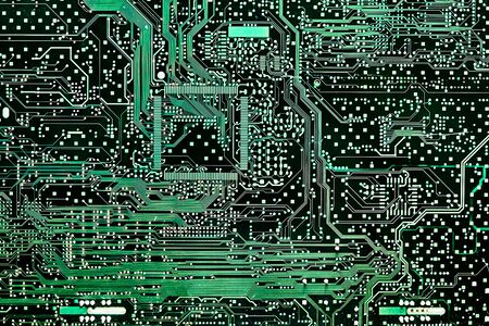Abstract Mainboard or motherboard Electronic computer background. Logic, cpu, system board pattern.