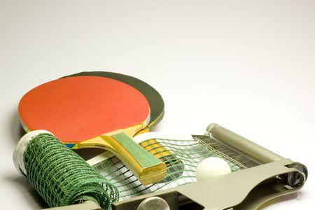 Table tennis set Stock Photo