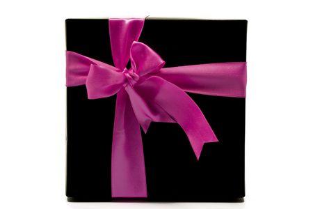 Black box cadeau isol� sur blanc