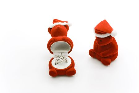 Diamond ring in special bear boxes