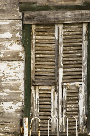 Old Wooden Window and Wall Stok Fotoğraf