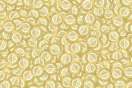 Texture of gold colored coins