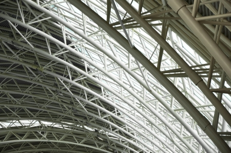 The steel construction of the roof Stock Photo