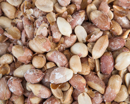 Delicious dried pistachio nuts with salt