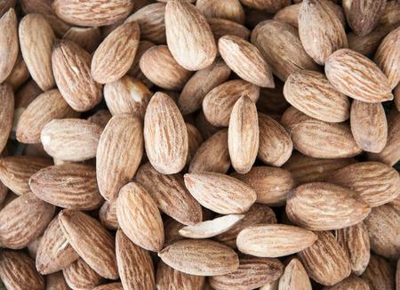 Roasted almonds mix closeup Stock Photo