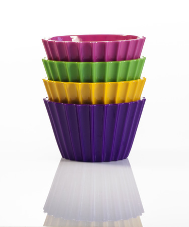 Four colorful cups inside each other Stok Fotoğraf
