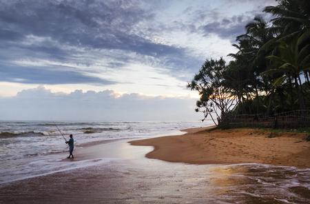 Tropical paradise in Sri Lanka Stock Photo