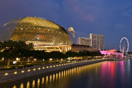 singapore culture: Esplanade theatres on the bay