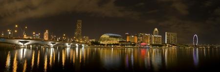 singapore city: Singapore City Evening Skyline