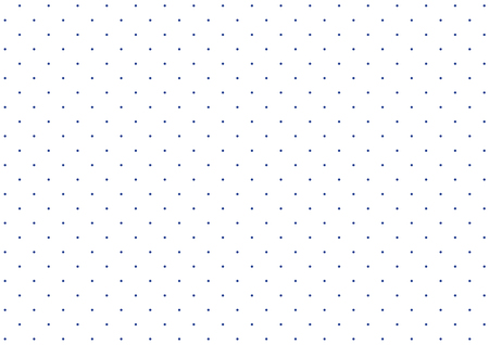 Simple polka dot pattern of white and blue dots background