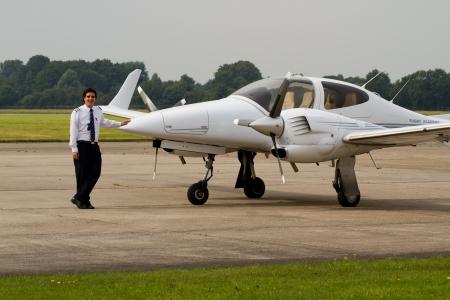 pilot light: Young student pilot Stock Photo