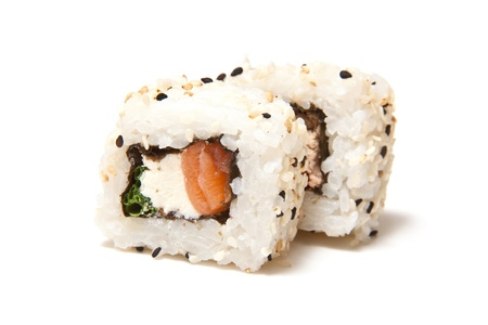 californian: Californian salmon sushi roll