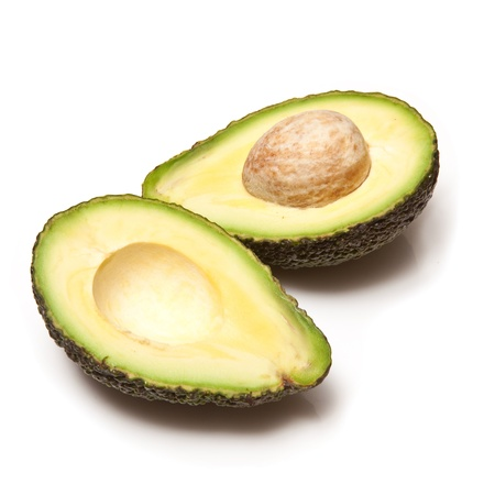 avacado: Hass avocado isolated on a white studio background.