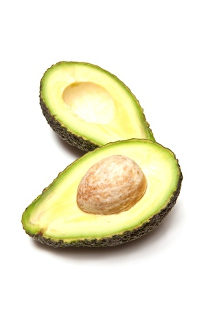 hass: Hass avocado isolated on a white studio background.