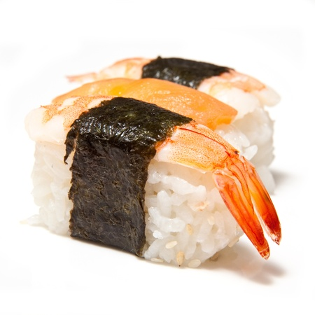 Prawn or shrimp sushi  photo